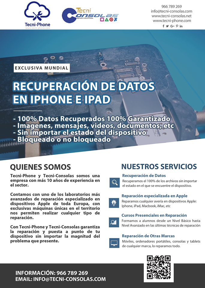 recuperacion de datos iphone